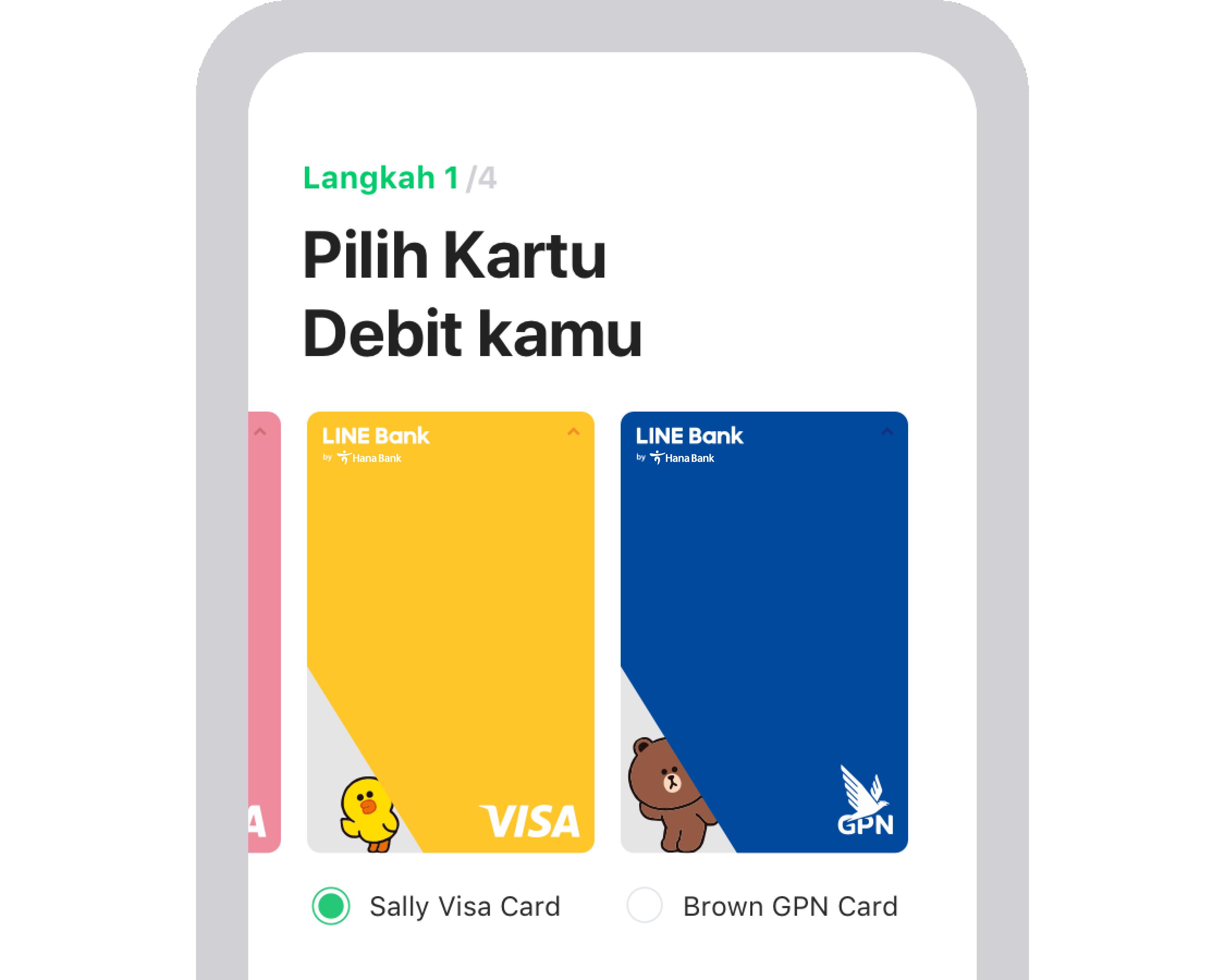 Pilihan kartu dari line bank